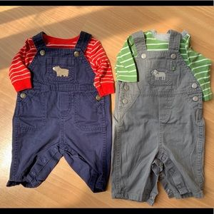 Carters Coveralls, Two 2-piece sets, 3 months